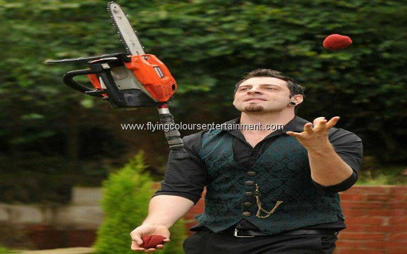Chainsaw Juggling